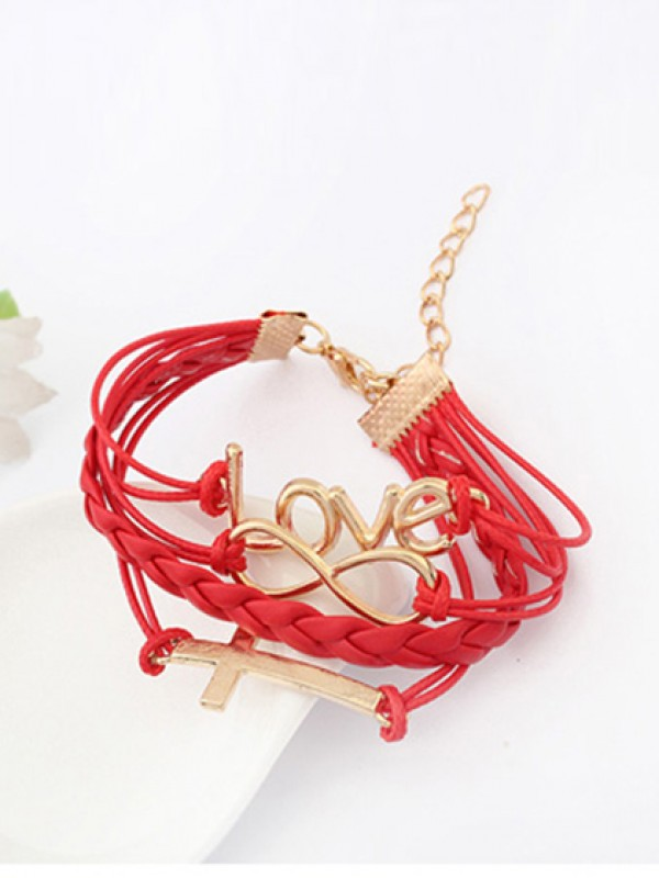 Korean version Romantic Password love Cross Hot-salg Armbånd