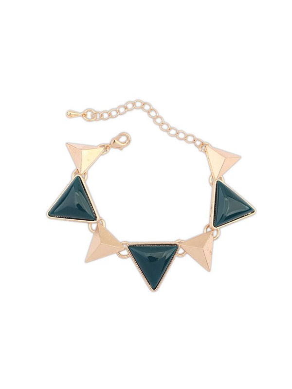 Vesten Retro Punk Geometry Triangle Hot-salg Armbånd